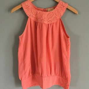 Forever Brand Sleeveless 3 Button Top Size Small